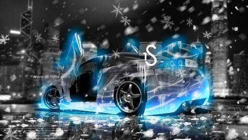 Mitsubishi-Eclipse-Ice-Car-JDM-2013-Blue-Neon-HD-Wallpapers-by-Tony-Kokhan-[www.el-tony.com]