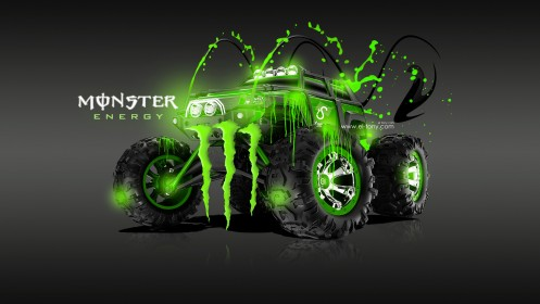 Monster-Energy-Traxxas-Summit-Fantasy-Green-Acid-2013-design-by-Tony-Kokhan-[www.el-tony.com]