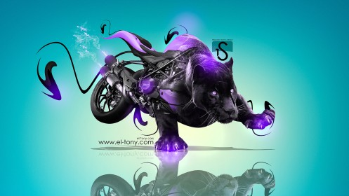 Moto-Ducati-Streetfighter-848-Fantasy-Panter-2013-Violet-Neon-HD-Wallpapers-by-Tony-Kokhan-[www.el-tony.com]