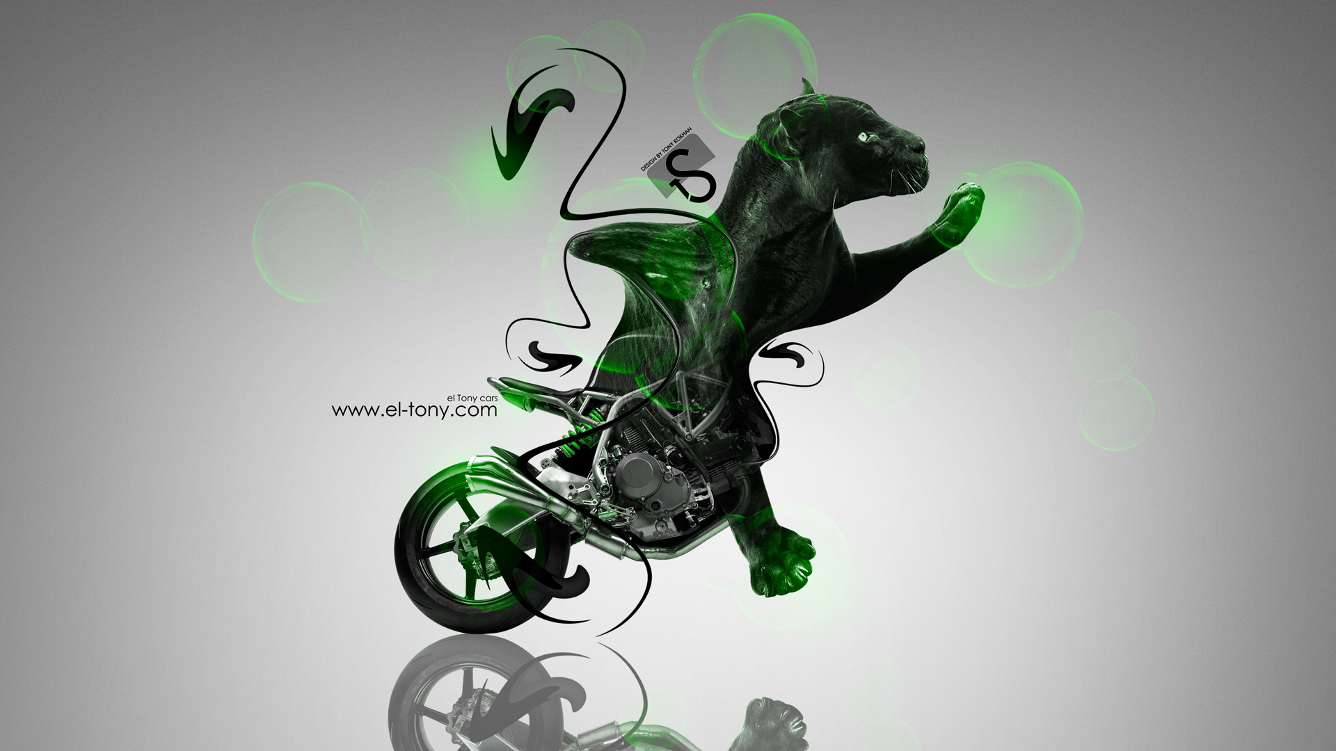 Lovely Moto NCR M4 Fantasy Panther Green Violet Neon  ... Gallery