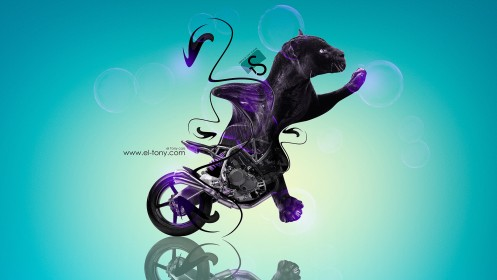 Moto-NCR-M4-Fantasy-Panther-Violet-Neon-2013-HD-Wallpapers-design-by-Tony-Kokhan-[www.el-tony.com]