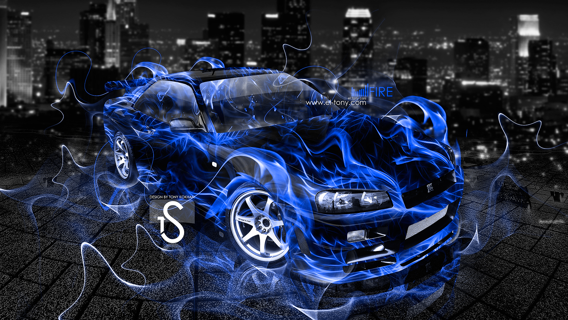 Nissan GTR R34 Blue Fire City Car 2013  ...