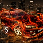 Nissan GTR R34 Fire City Car 2013