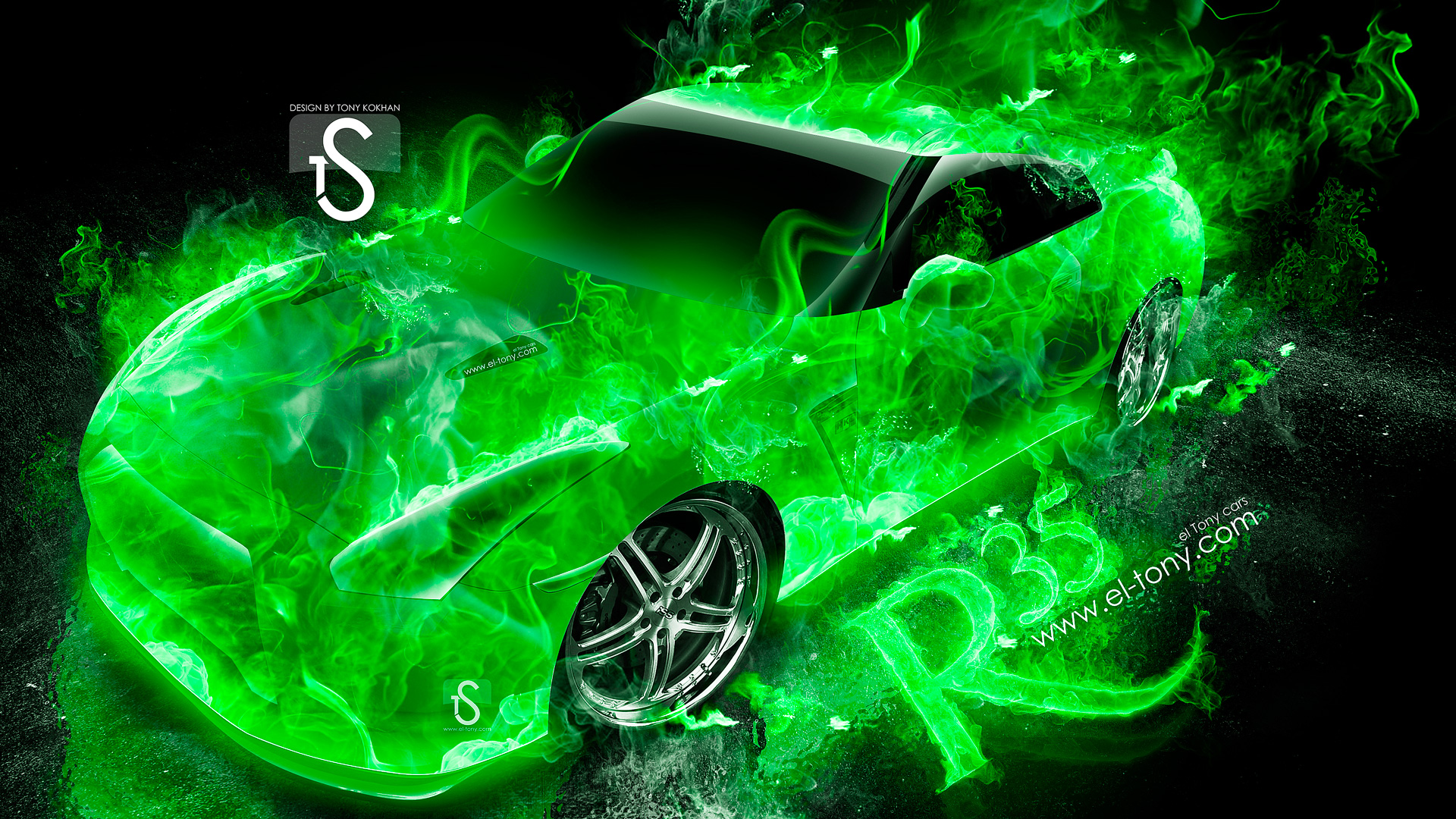 Lotus Elise Up Fire Abstract Car 2014 | El Tony