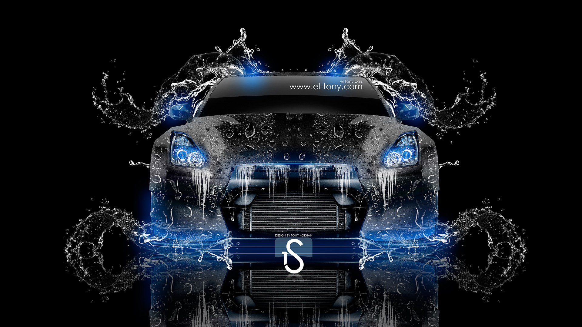 ... Nissan GTR R35 Water Tuning Car 2013 Front  ...