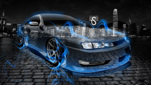 Nissan-Silvia-S14-200SX-JDM-Crystal-Blue-Fire-Car-2013-HD-Wallpapers-by-Tony-Kokhan-[www.el-tony.com]