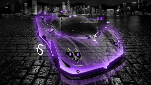 Pagani-Zonda-F-Violet-Neon-Crystal-City-Car-2013-HD-Wallpapers-design-by-Tony-Kokhan-[www.el-tony.com]
