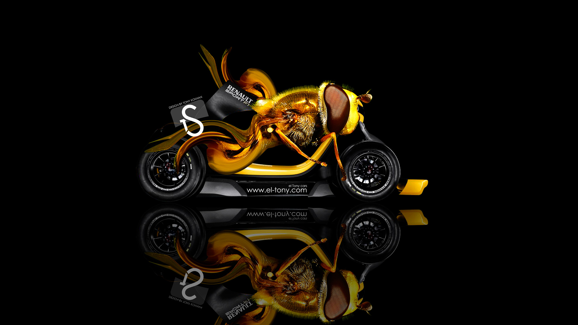 Perfect Reno Twizy RS F1 Fantasy Bee Car 2013