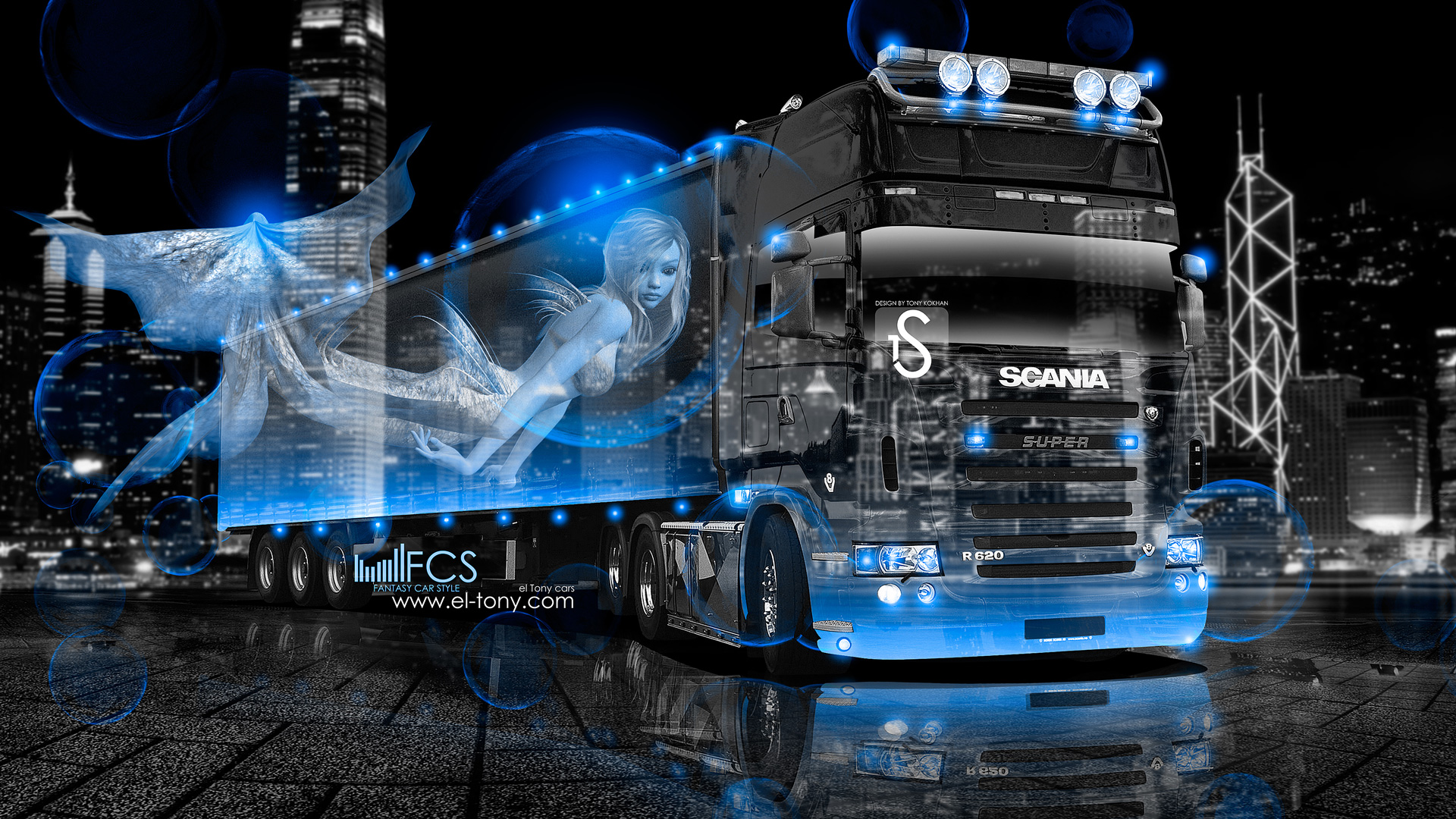 Scania-R620-Truck-Fantasy-Nixie-City-2013-Blue-Neon-by-Tony-Kokhan-[www.el-tony.com]