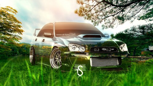 Subaru-WRX-STI-JDM-Crystal-Nature-Car-2013-HD-Wallpapers-design-by-Tony-Kokhan-[www.el-tony.com]