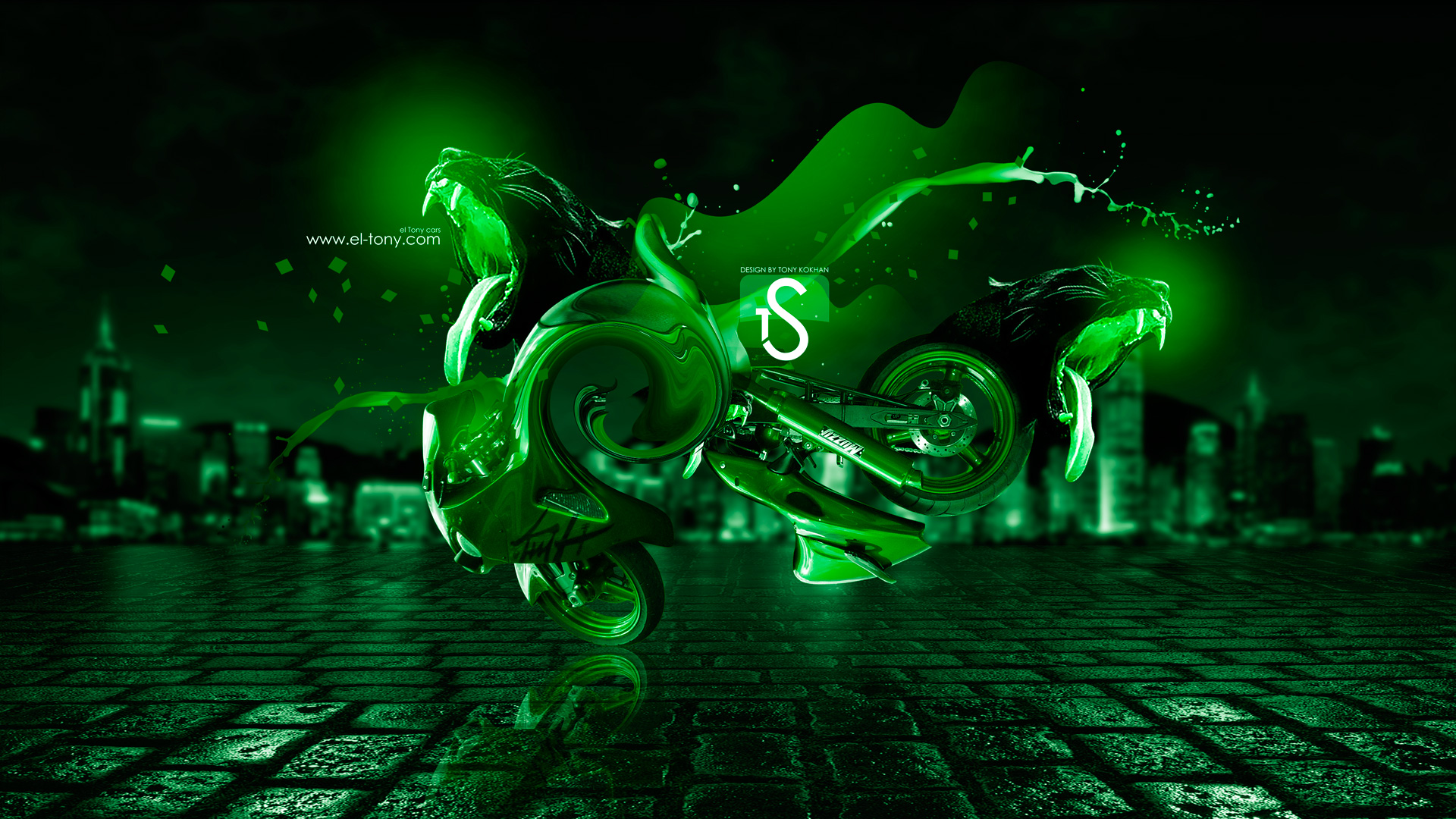 neon flame motorcycle wallpaper - photo #17