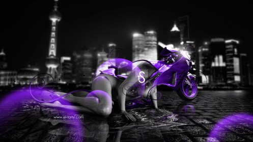 Suzuki-Hayabusa-Violet-Fantasy-Sexy-Girl-2013-HD-Wallpapers-design-by-Tony-Kokhan-[www.el-tony.com]