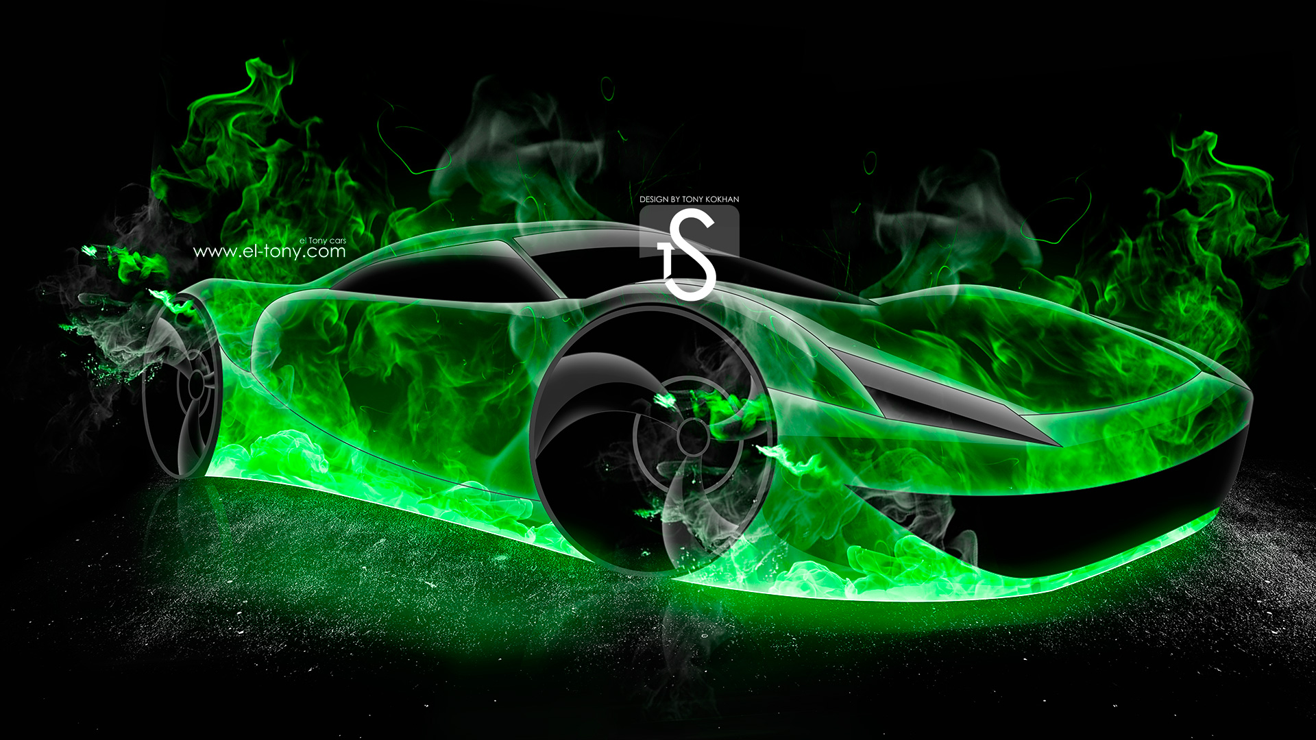 Bon TS Fire Abstract Car 2013