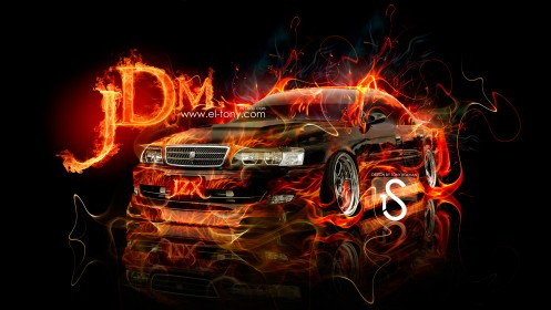 Toyota-Chaser-JZX100-JDM-Fire-Car-2013-Front-HD-Wallpapers-by-Tony-Kokhan-[www.el-tony.com]