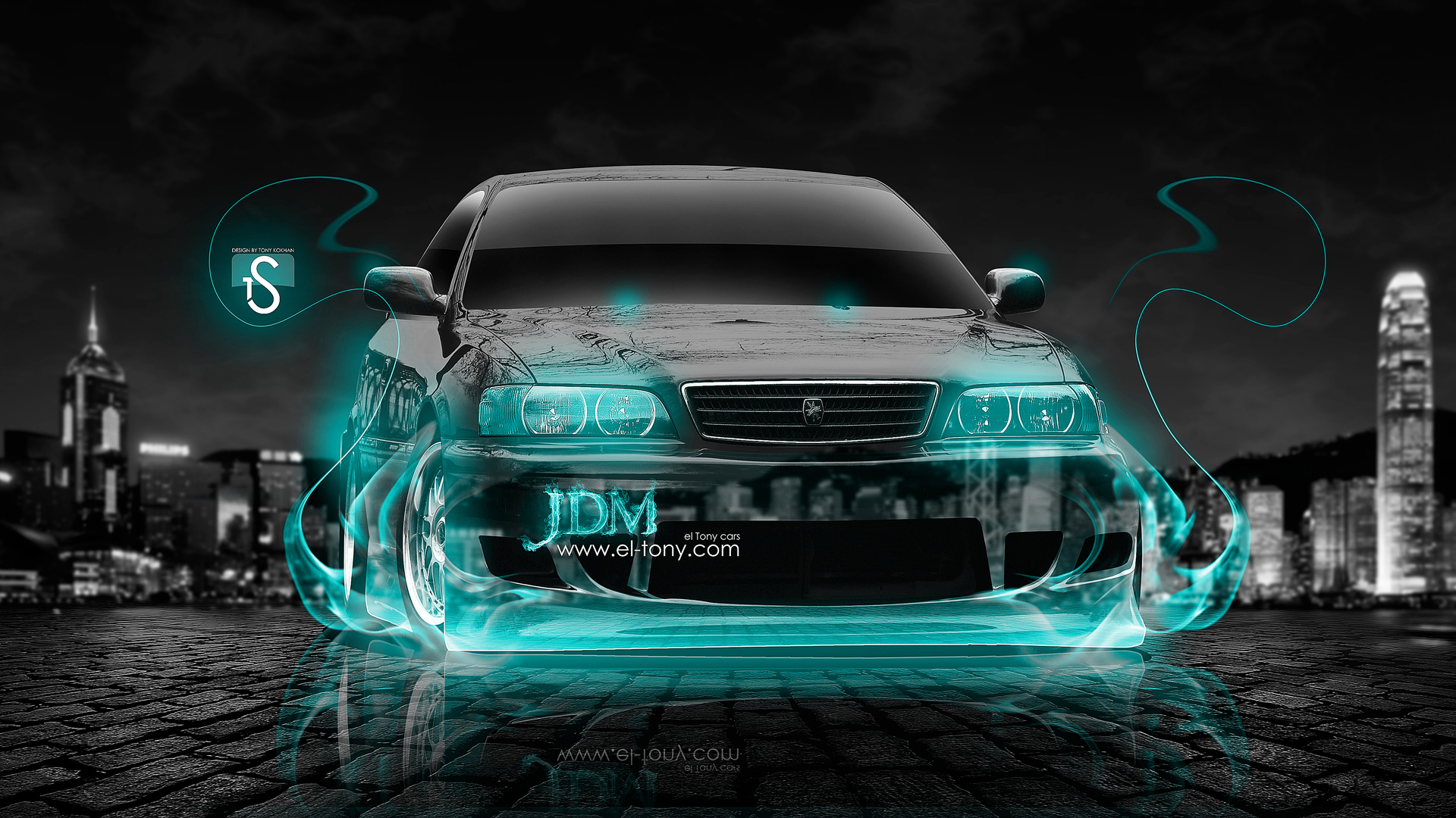 Toyota Chaser JZX100 JDM Turquoise Fire Crystal Car .