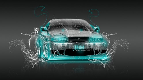 Toyota-Chaser-JZX100-JDM-Turquoise-Fire-Water-Car-2013-HD-Wallpapers-design-by-Tony-Kokhan-[www.el-tony.com]
