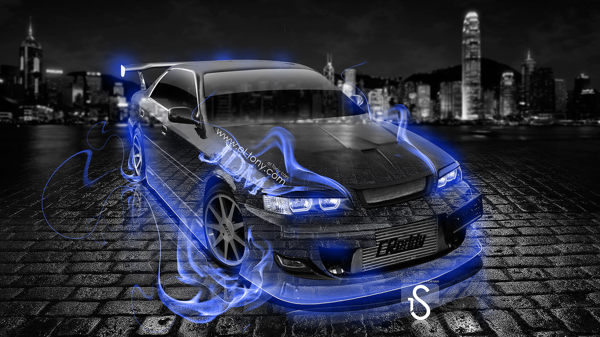 Ordinaire Toyota Chaser Tuning JZX100 JDM Blue Fire Crystal