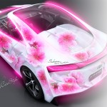 Toyota FT-HS Hybrid Flowers Aerography 2013
