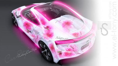 Toyota-FT-HS-Hybrid-Pink-Flowers-Aerography-2013-HD-Wallpapers-design-by-Tony-Kokhan-[www.el-tony.com]