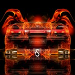 Toyota Mark 2 JZX90 JDM Fire Abstract Car 2013