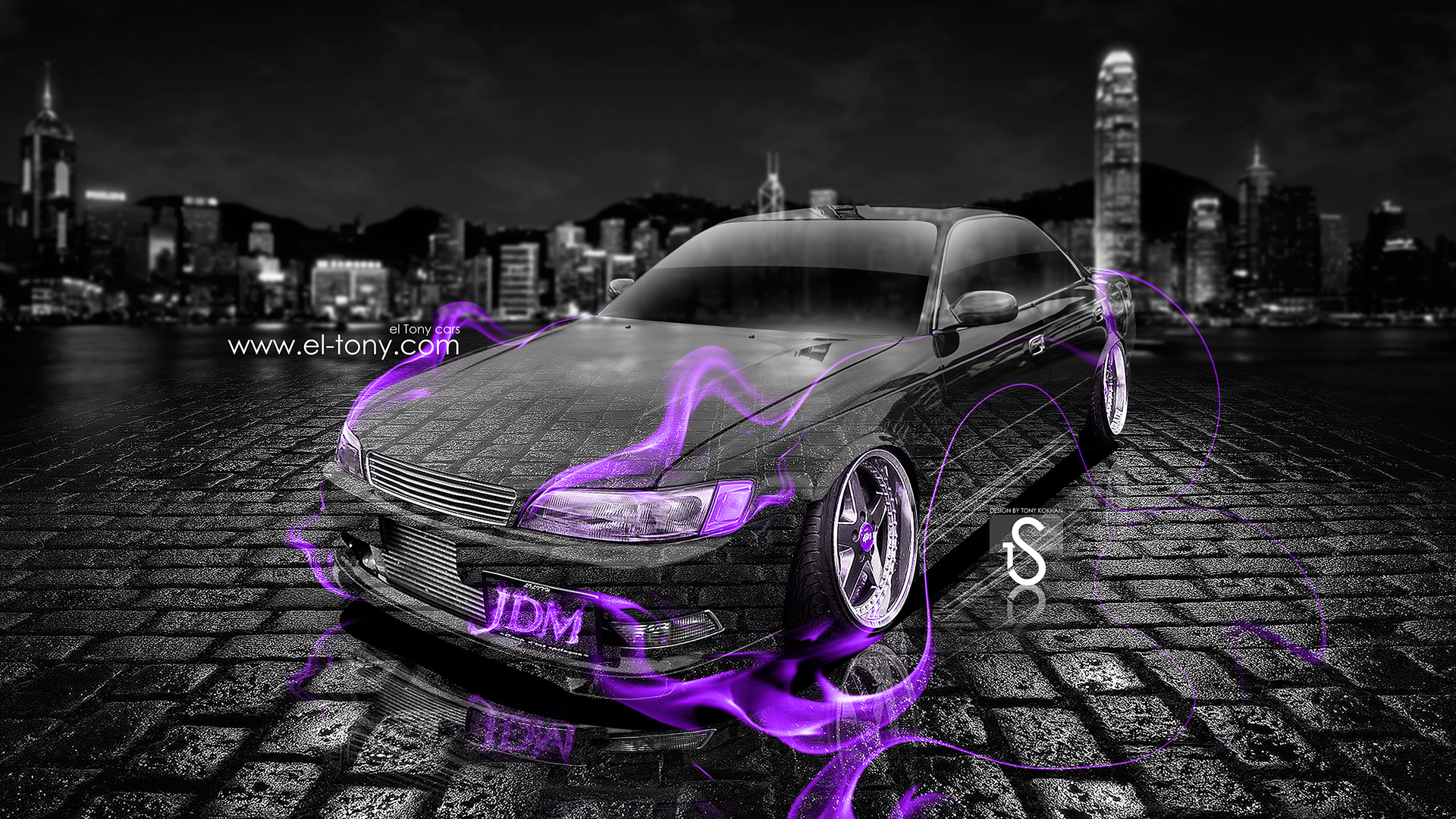 Good ... Toyota Mark 2 JZX90 JDM Tuning Violet Fire