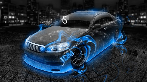 Toyota-Mark2-JZX110-JDM-Blue-Fire-Crystal-Car-2013-HD-Wallpapers-by-Tony-Kokhan-[www.el-tony.com]