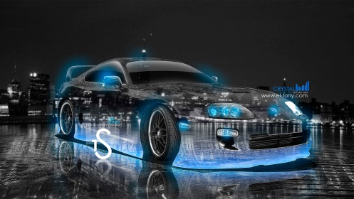 Toyota-Supra-Crystal-City-Car-2013-Blue-Neon-HD-Wallpapers-design-by-Tony-Kokhan-[www.el-tony.com]