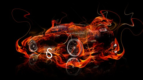Toyota-Supra-Fire-Car-2013-Abstract-HD-Wallpapers-design-by-Tony-Kokhan-[www.el-tony.com]