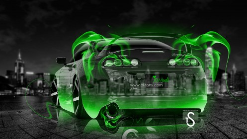Toyota-Supra-JDM-Green-Fire-Crystal-Car-2013-HD-Wallpapers-by-Tony-Kokhan-[www.el-tony.com]