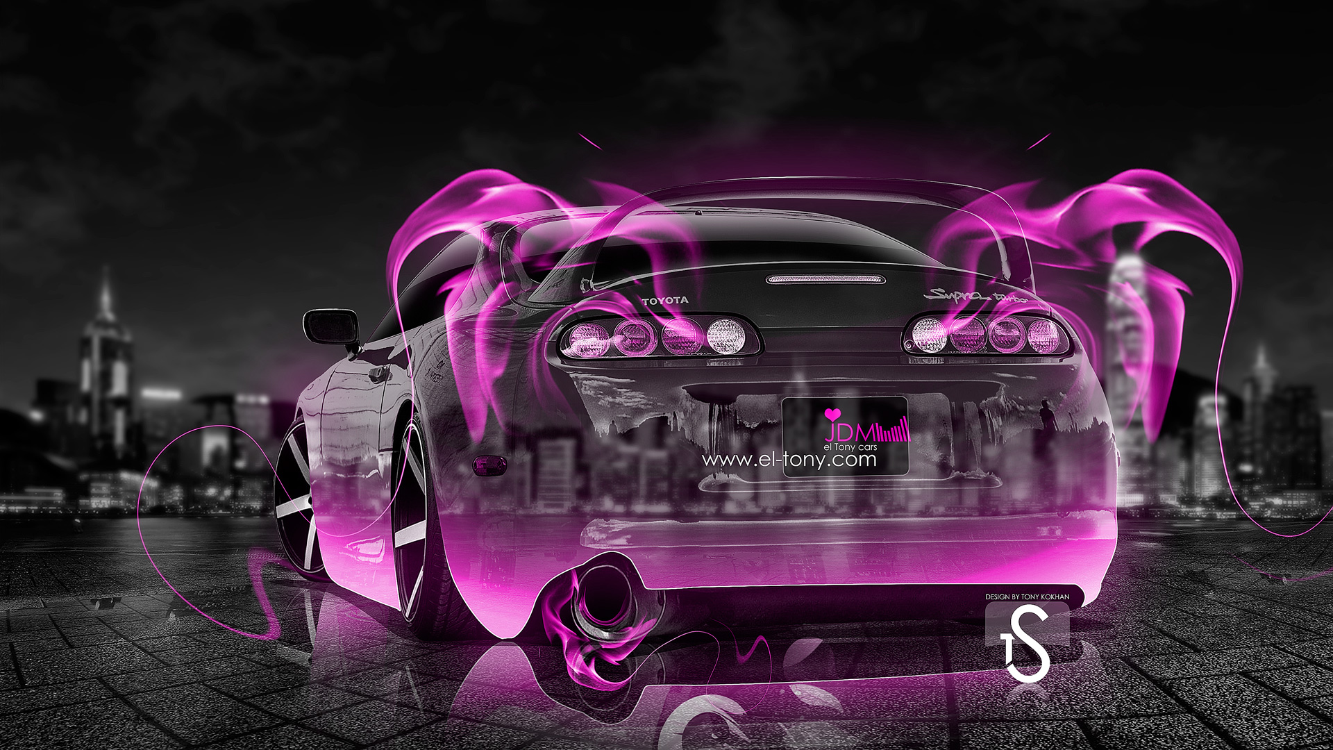Toyota Supra JDM Pink Fire Crystal Car 2013 .
