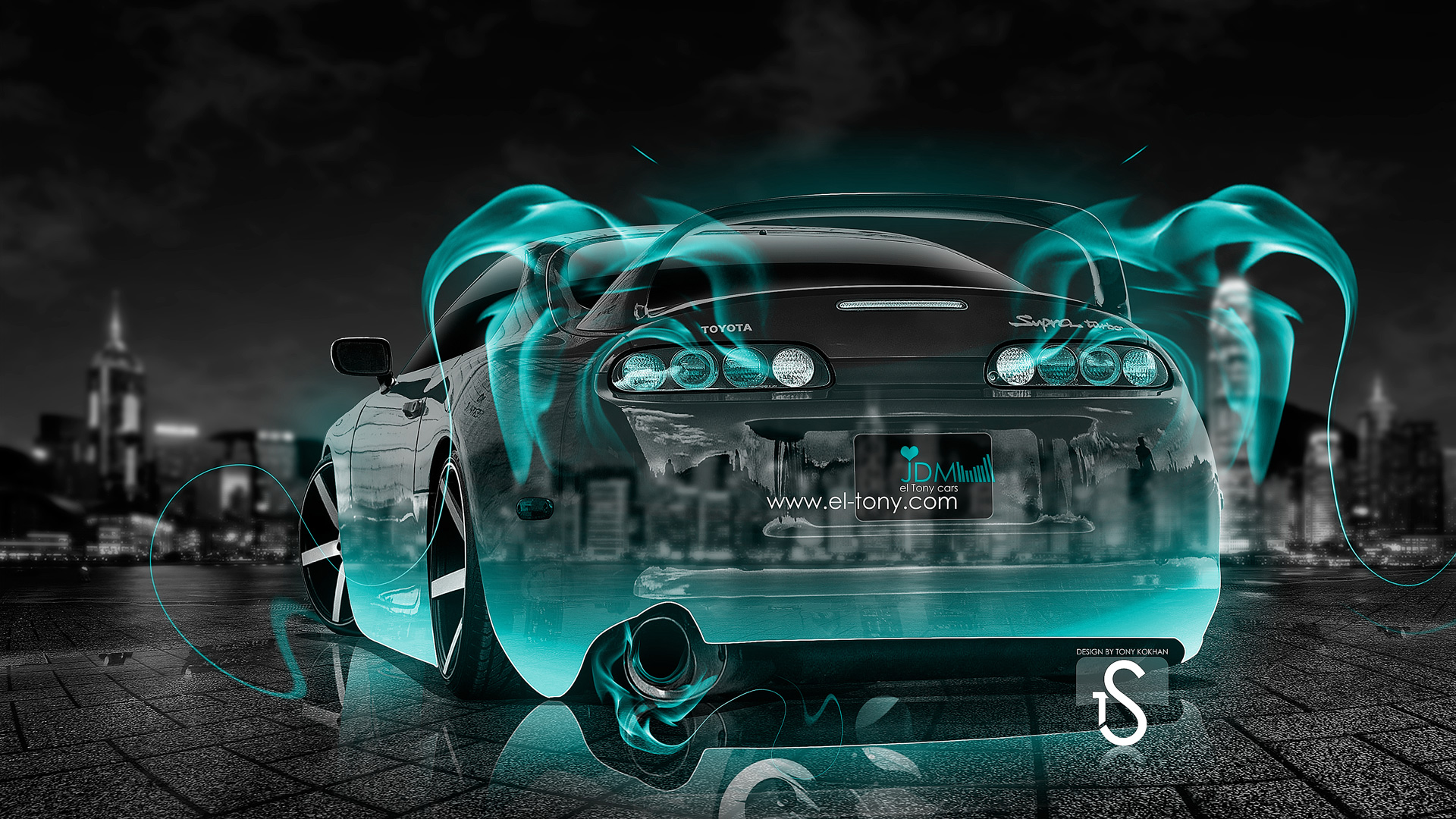 Toyota Supra JDM Turquoise Fire Crystal Car 2013
