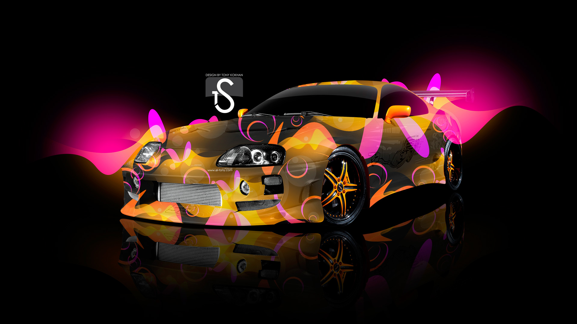 Superb Toyota Supra Sweet Abstract Car 2013 Multicolors HD