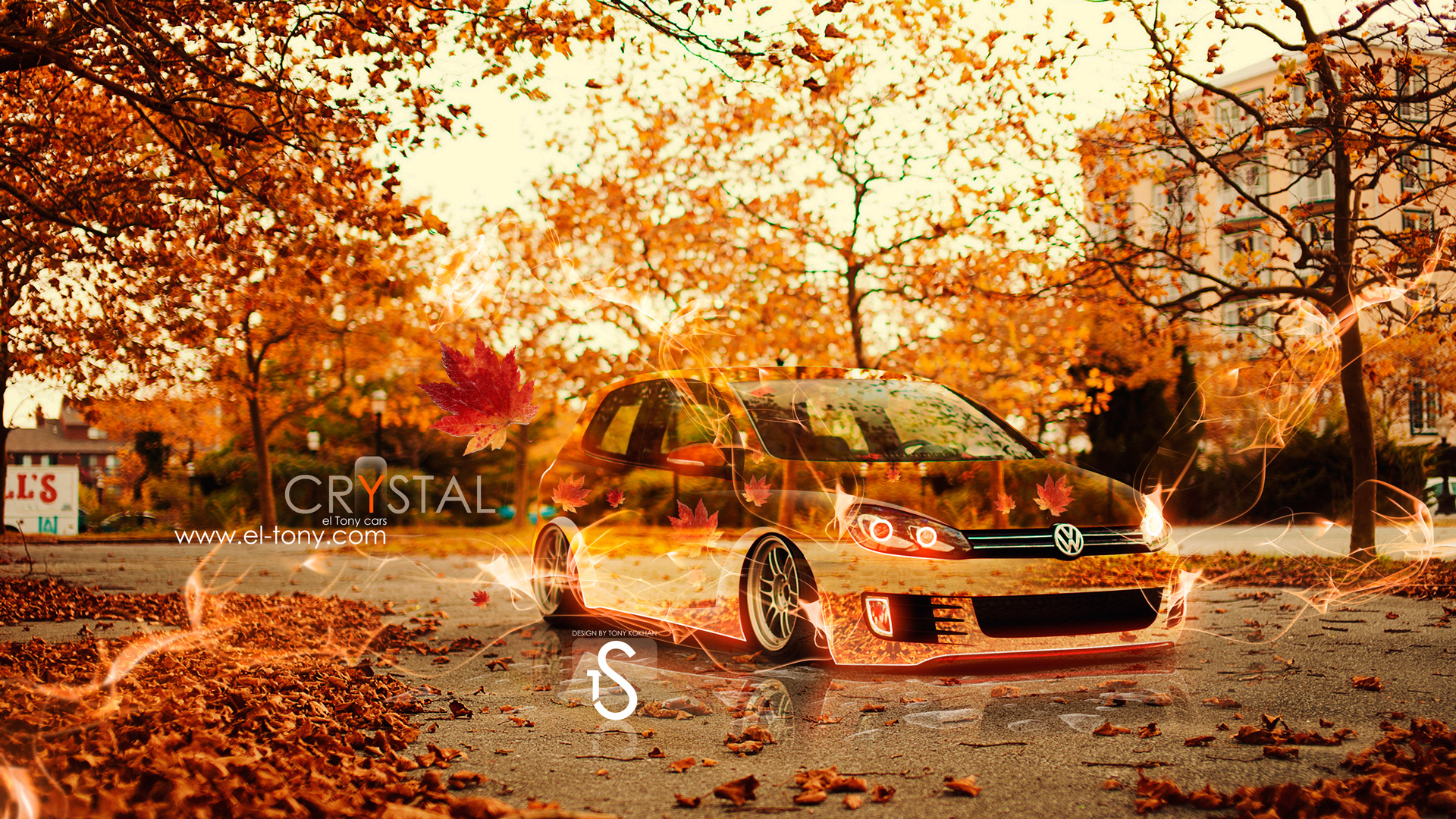 Volkswagen Golf Autumn Crystal Car 2013 El Tony