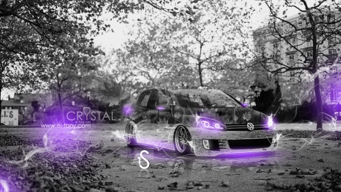 Volkswagen-Golf-Autumn-Crystal-Car-2013-Violet-Neon-HD-Wallpapers-design-by-Tony-Kokhan-[www.el-tony.com]