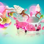 Volkswagen Ice Cream Fantasy Car 2013
