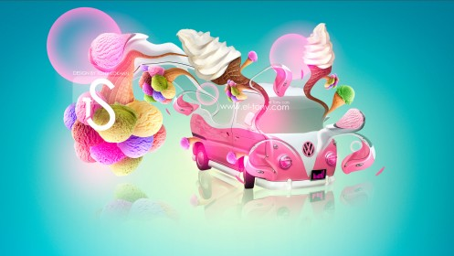 Volkswagen-Ice-Cream-Fantasy-Car-2013-HD-Wallpapers-by-Tony-Kokhan-[www.el-tony.com]