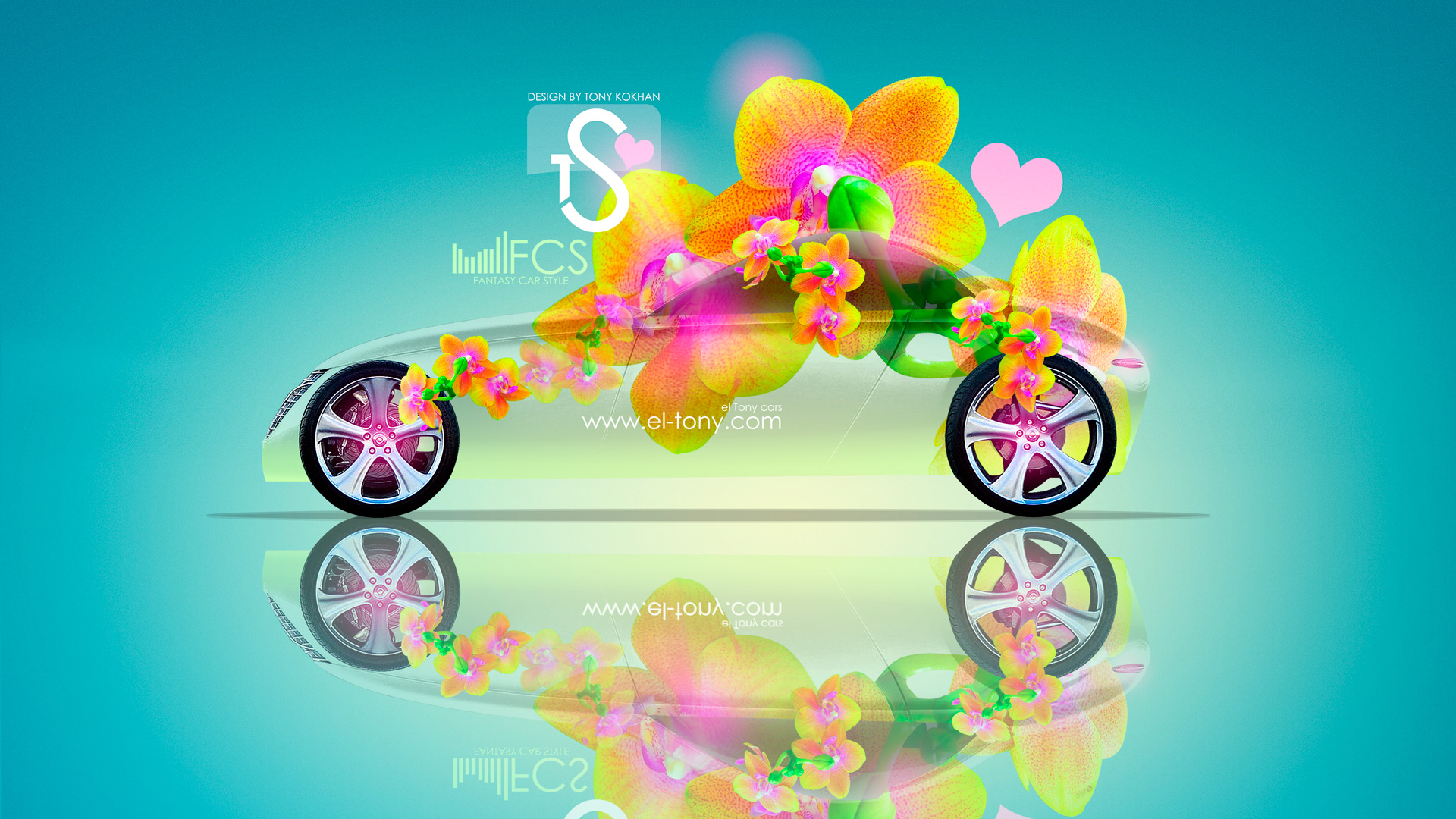 Beautiful Volvo T6 Fantasy Flowers 2013 HD Wallpapers Design