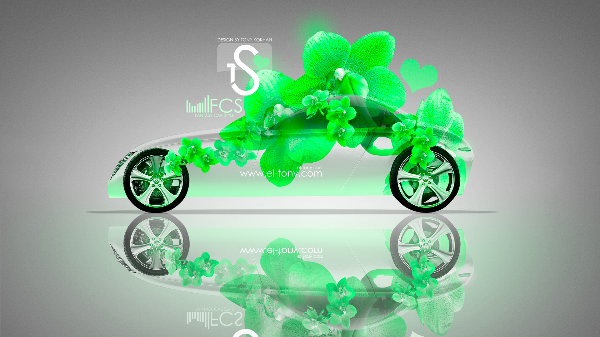 Volvo T6 Fantasy Green Flowers 2013 HD Wallpapers .