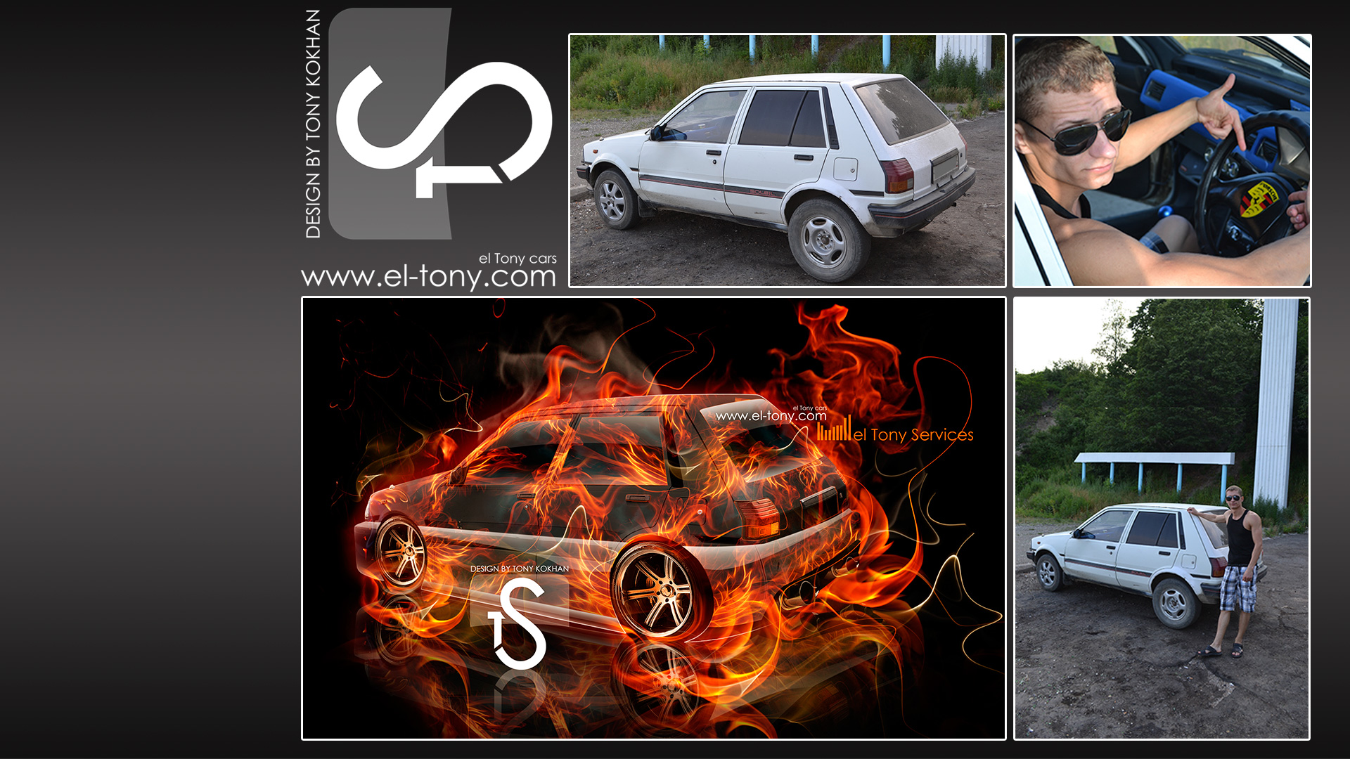 Beau Toyota Starlet JDM Fire Car Russian El Tony Services