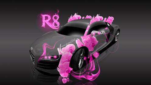 Audi-R8-Fantasy-Pink-Flowers-Fire-Car-2013-HD-Wallpapers-design-by-Tony-Kokhan-[www.el-tony.com]