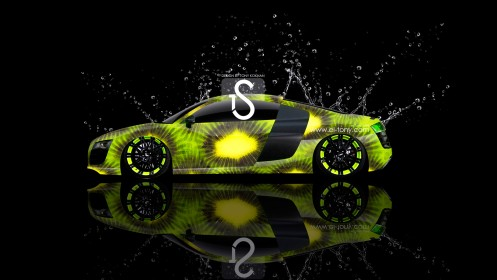 Audi-R8-Side-Kiwi-Style-Green-Neon-Water-Car-2013-HD-Wallpapers-design-by-Tony-Kokhan-[www.el-tony.com]