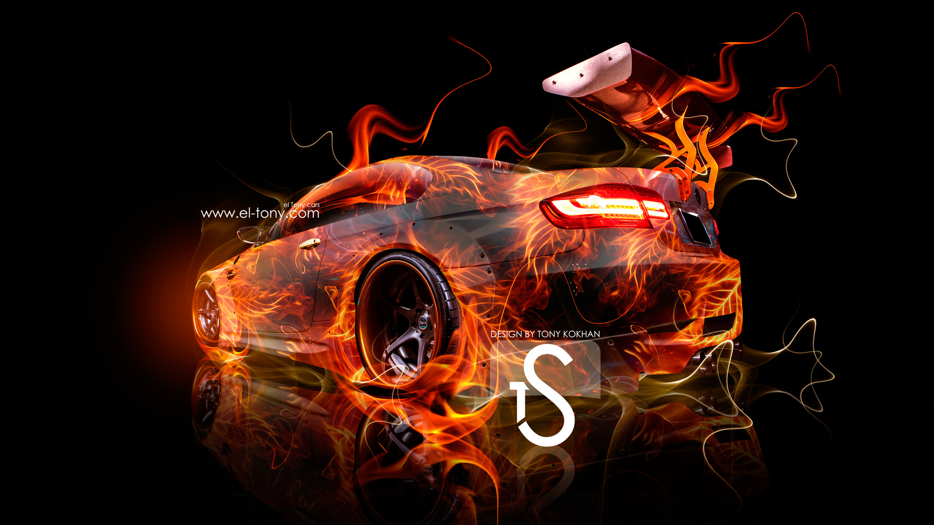 Captivating BMW Fire Abstract Sport Tuning Car 2013 HD