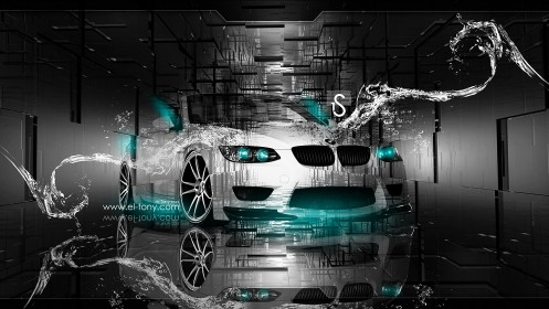 BMW-M3-E93-Crystal-Water-Car-2013-Azure-Neon-design-by-Tony-Kokhan-[www.el-tony.com]