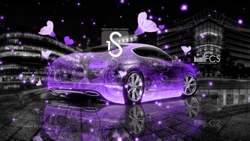 Bentley-Continental-GT-Crystal-Fantasy-Flowers-Car-2013-Violet-Neon-design-by-Tony-Kokhan-[www.el-tony.com]