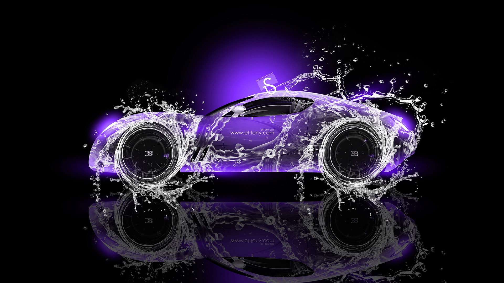 Beautiful Bugatti Gangloff Super Water Car 2013 Violet Neon