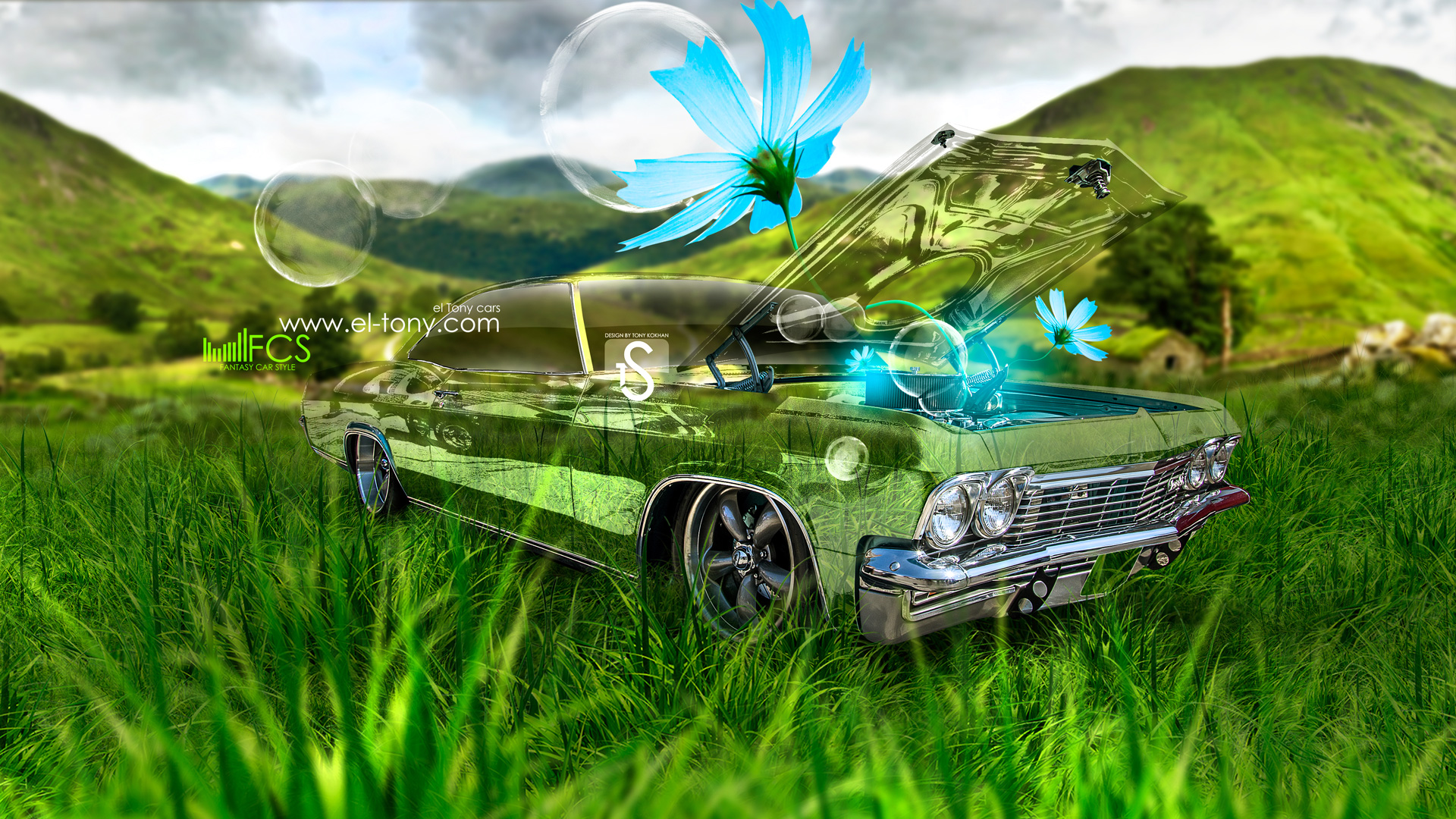 Exceptional ... Chevrolet Biscayne 1965 Fantasy Crystal Flowers Car 2013