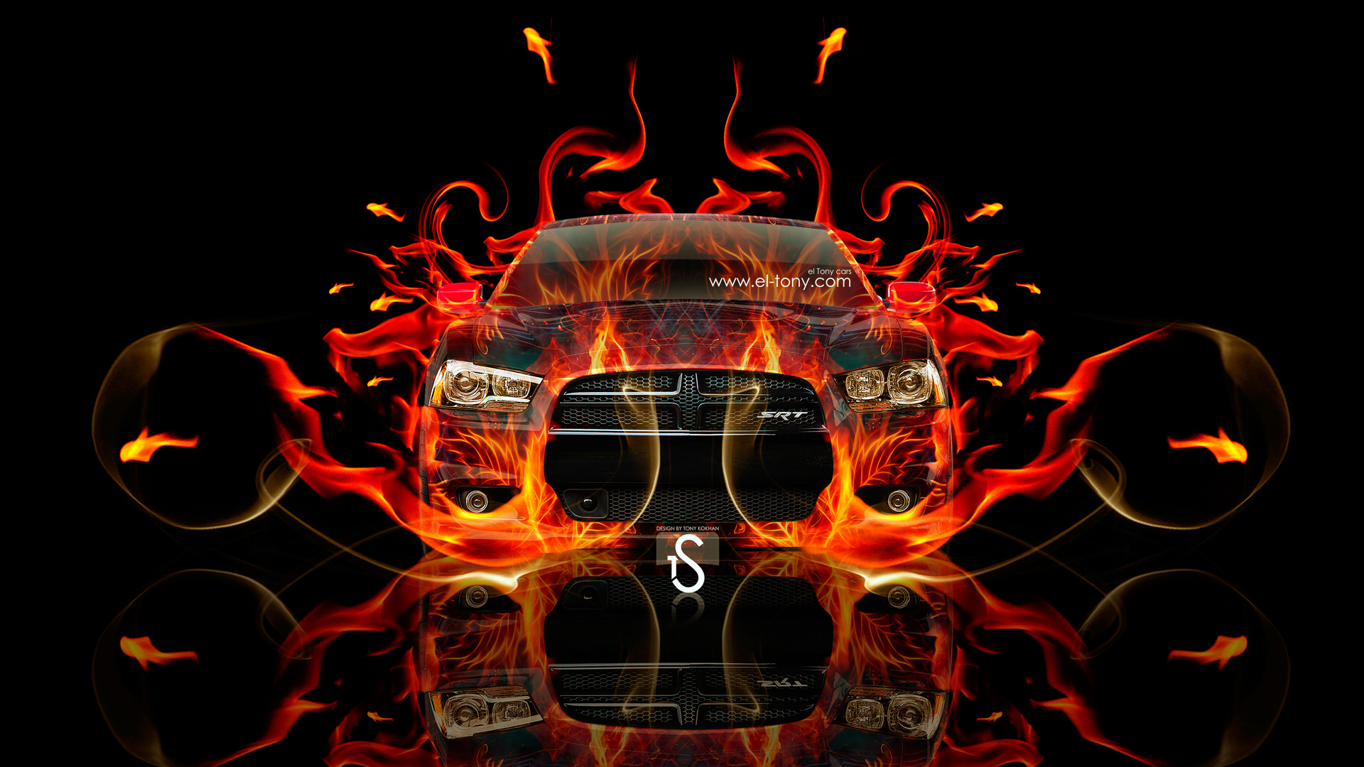 ... Dodge Charger SRT/8 Fire Abstract Car 2013 | El Tony