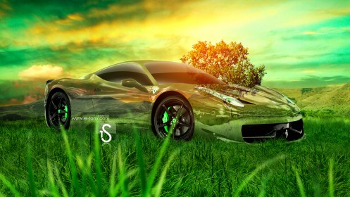 Ferrari-458-Italia-Crystal-Nature-Car-2013-HD-Wallpapers-design-by-Tony-Kokhan-[www.el-tony.com]