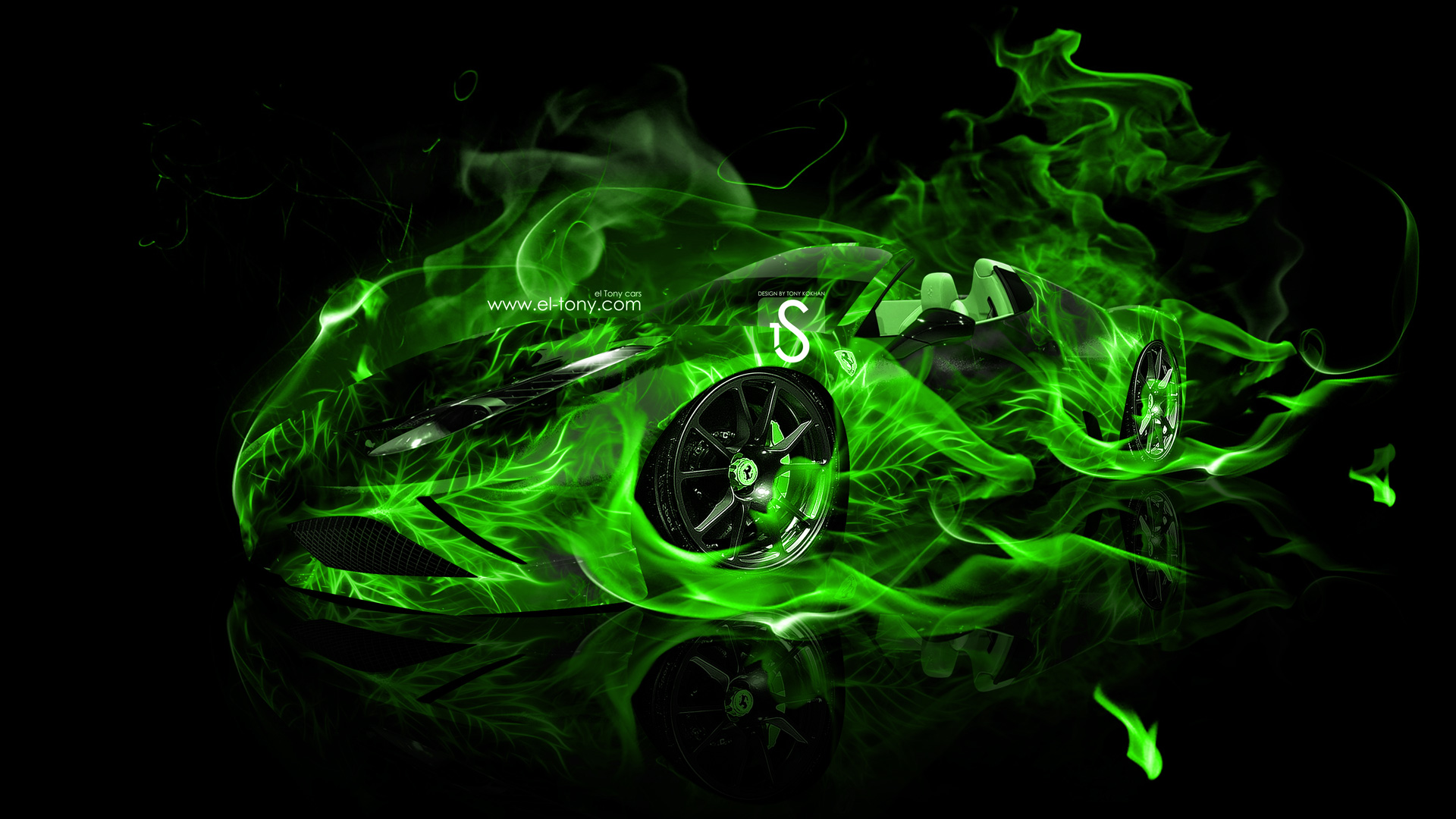 wallpaper green ferrari cars - photo #38