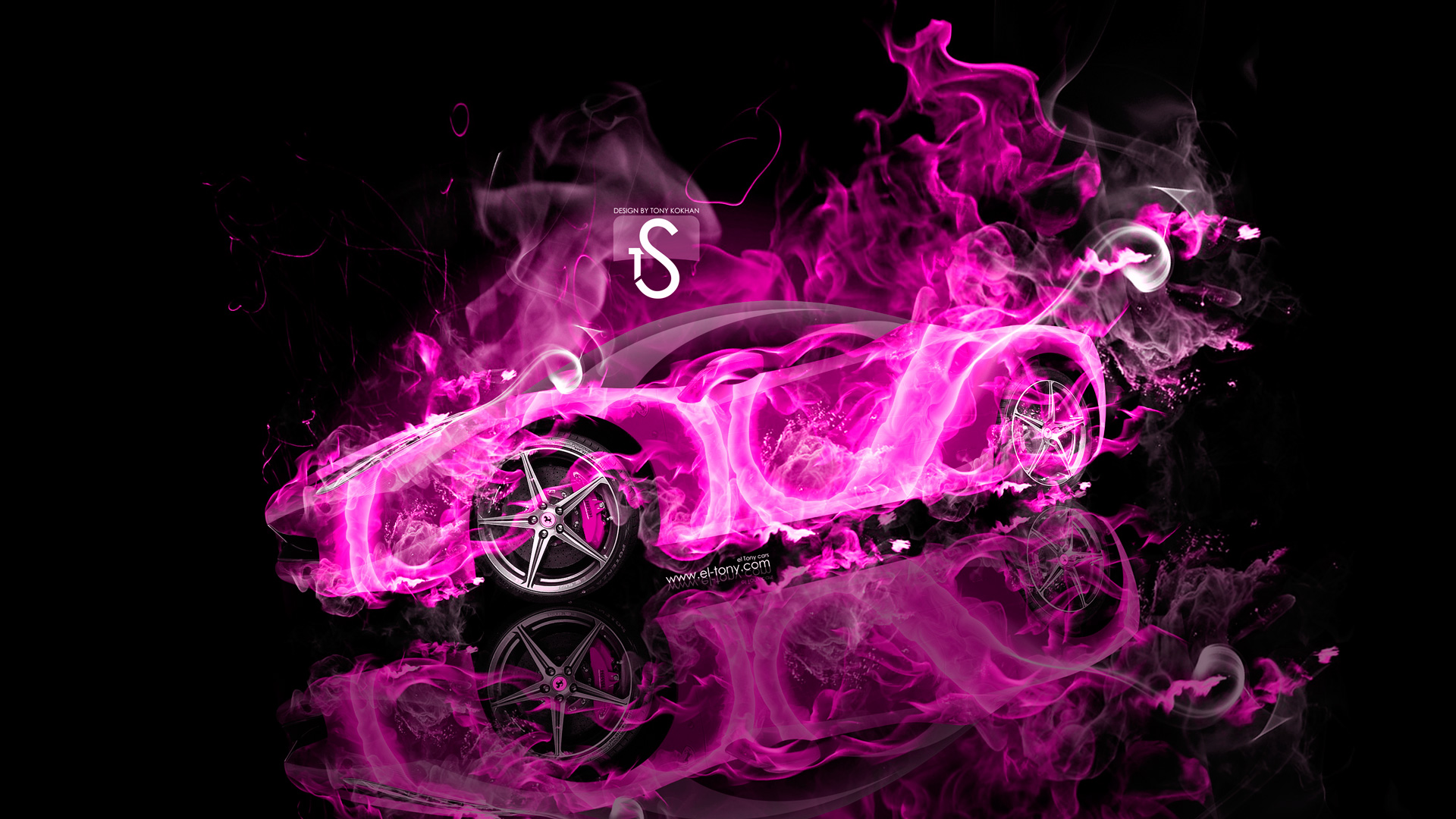 ... Ferrari Italia Pink Fire Abstract Car 2013 HD
